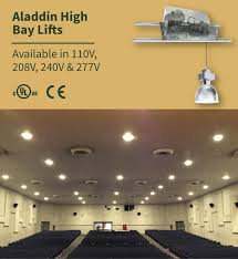 aladdin chandelier lift commercial high bay lift systems aladdin light lift all200 chandelier light lift 200