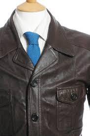cozy men clothing brickvintage vintage 1970s dark brown donnie brasco leather jacket m