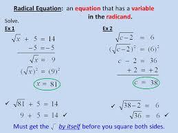 2 radical equation
