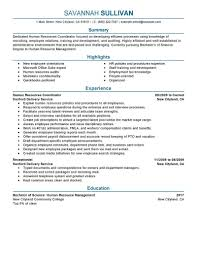 Hr Coordinator Resume Template Best of Human Resource Resume Templates Fresh Hr Coordinator Resume Example