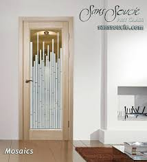 glass doors glass etching modern design linear geometric patterns mosaics sans soucie glass front doors frosted