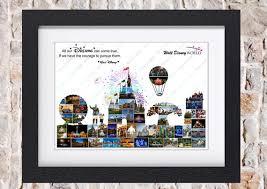 disney world skyline photo collage wall