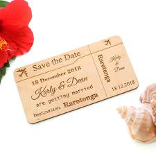 What Are Save The Date Cards Wooden Save The Date Cards Airplane Ticket