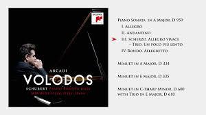 <b>Arcadi Volodos</b> - <b>Schubert</b> Piano Sonata & Minuets // Album Preview ...