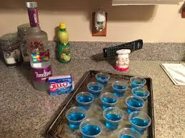 fruit loop jell o shots all you need is three olives loopy vodka and berry blue jell o