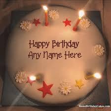 Happy Birthday Cakes Pics With Name Name Birthday Cakes Write Name