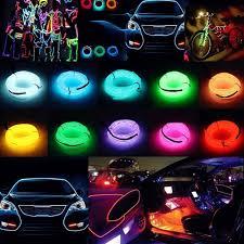 led strip waterproof 1 2 3 5m led 12v flexible car decoration neon