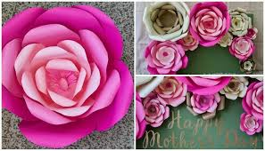 How To Make A Flower Out Of Paper Step By Step How To Make Large Paper Flowers