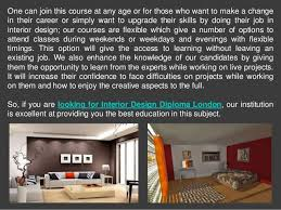 College Of Interior Design Gorgeous Choose The Best Interior Design College In London