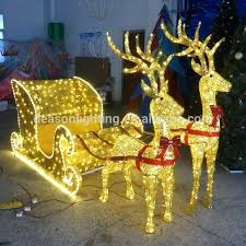 outdoor lighted deer outdoor lighted standing reindeer with sleigh led lights large outdoor lighted reindeer