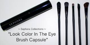 makeup brushes sephora collection look color in the eye brush capsule review