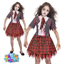 zombie school girl costume chid kids monster