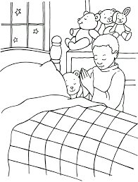 Small Picture God Hears My Prayers Coloring Page