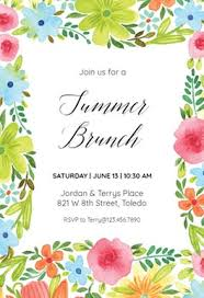 Summer Blossom - Pool Party Invitation Template (Free) | Greetings ...