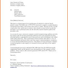 Reconsideration Letter For Health Insurance Sample Appeal Letters