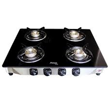 Gas Cooktop Glass Surya Ave 4 Burner Manual Ignition Glass Top Gas Stove Gas