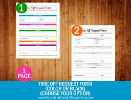 Time Off Request Form Pdf Time Off Request Form Color Or Black Choose Your Option Pdf Printable