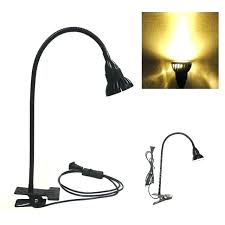 clamp desk lamp table goose neck led lamp clamp clip desk bright flexible adjule work light clamp desk lamp arm