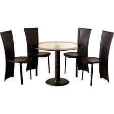 round dining table with four