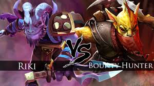 dota 2 riki vs bounty hunter one click battle youtube
