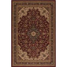 persian classic medallion kashan red rectangle indoor 9 ft 3 in x 12 ft