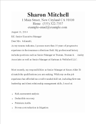 Executive Cover Letters Free Senior Executive Cover Letter Templates At