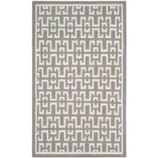 dhurries soft gray ivory 4 ft x 6 ft area rug