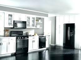 Image White Kitchen With Black Appliances Modern Kitchen With Black Appliances White Kitchen Black Appliances White Kitchen Laurel Bern Interiors White Kitchen With Black Appliances Yepigamesinfo