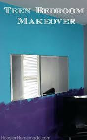 Purple And Turquoise Bedroom Teen Bedroom Makeover Purple Turquoise Wall Art