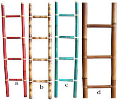 bamboo ladders colored