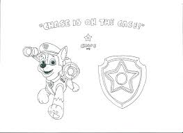 Paw Patrol Coloring Sheets Everest Pages Badge Printable Chase Page