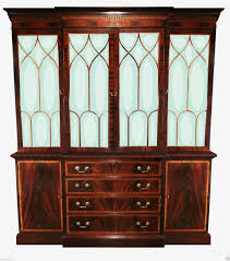 Ethan Allen English Georgian Regency Breakfront Bookcase Display China  Cabinet | eBay