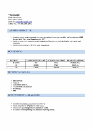 Technical Skills Cv Resume For Ca Articleship With Examples Download Now