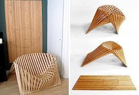 bamboo design furniture. Robert Van Embricqs, Bamboo Chair, Sculptural Rising Flatpack Design, Design Furniture