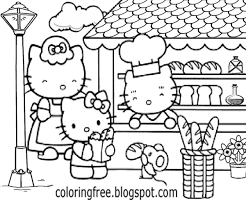 LETS COLORING BOOK: Hello Kitty Coloring Sheets Free Cute ...
