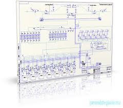 Дипломы газоснабжения Чертежи газоснабжения Каталог файлов  тех схема компрессорной станции