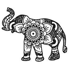 Elephant Mandala Coloring Pages Awesome Design Printable 13001210