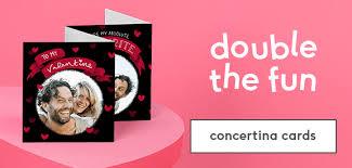 valentines day photo cards. Modren Valentines Valentines Day Concertina Cards Intended Photo Cards