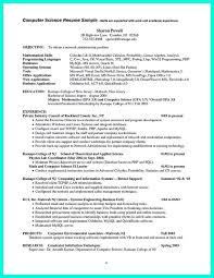 Engineer Resume Example Carpinteria Rural Friedrich Computer Science Resume  Sample Medium size Computer Science Resume Sample