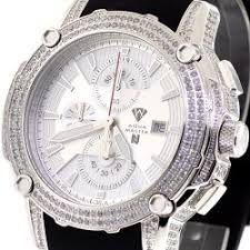 buy mens diamond watches wrist watch for men mens diamond watch aqua master nicky jam 5 00 ct silver dial