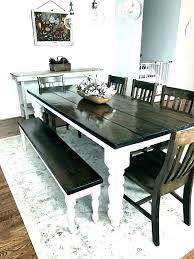 farmhouse table white legs dark top