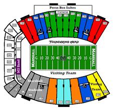 Odu Football Stadium Seating Chart Marshall Thundering Herd 2016 Football Schedule
