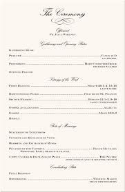 Samples Of Wedding Ceremony Programs Toptier Business