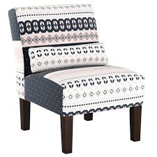 blue armless accent chair fresh skyline furniture accent chair in nordic sweater navy blush white of