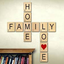 letters for wall decor family wall art scrabble letters large individual scrabble tiles crossword wall decor letters for wall decor