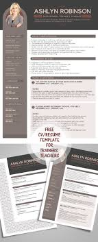 cv resume templates bies graphic design resume cv design template for trainers teachers