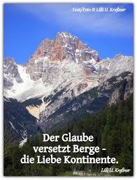 Der Glaube Versetzt Berge Die Liebe Lilli U Kreßner