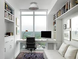 Modern home office design Bedroom Smart Scandinavian Modern Home Office With Lovely View design Jill Greaves Design Decoist 50 Splendid Scandinavian Home Office And Workspace Designs