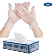 HOTSALE <b>100 PCS</b> Transparent <b>Disposable PVC</b> Gloves ...