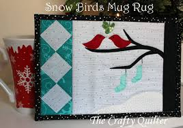 Snow Birds Mug Rug Tutorial - The Crafty Quilter &  Adamdwight.com